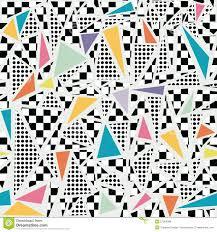 retro 80s memphis pattern background stock vector image 57384088