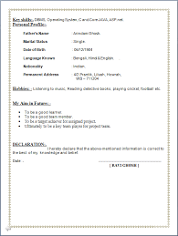 examples of resumes  Sample Cv Freshers Allthatvisible Resume Format For Mca Freshers In    Mesmerizing Brefash