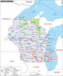 Political Map Of United States And Canada by Where Is Wisconsin Location Of Wisconsin