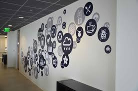 Professional Office Decor Ideas by Creative Office Branding Using Wall Graphics From Vinyl Impression