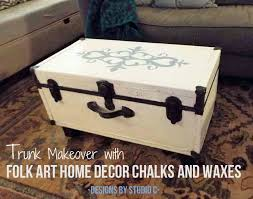 a chalk paint project with folk art home decor chalks and waxes