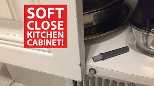 Soft Close KITCHEN CABINET DOORS DIY Retrofit YouTube - Kitchen cabinet soft close