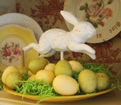 Easter Decorations For Home Easter China Cabinet A Cultivated Nest