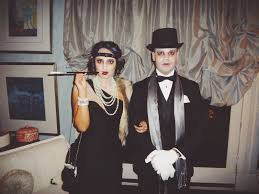 1920 Halloween Costumes Ghostly Roaring 20s Bobbed Brunette