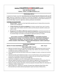 Resume Profile Section Examples by Best Security Supervisor Resume Example Livecareer Call Center