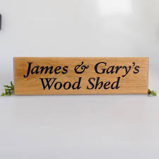 personalised oak house sign by england signs notonthehighstreet com