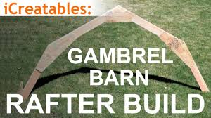 Gambrel Roof Gambrel Barn Rafter Build Learn How To Build A Barn Roof Youtube