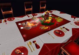 Dinner Table Second Life Marketplace Full Perm Christmas Dinner Table Set V 02