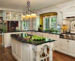 winsome large brown granite island counters with molding fringe
