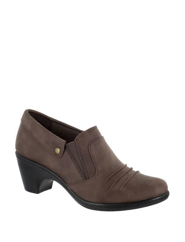 Easy Street Bennett Slip-On Block Heels Brown 8.5 M