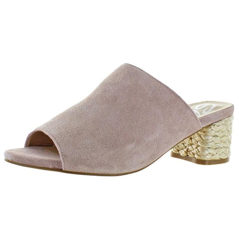 Sbicca Halma Suede Open Toe Heels Pink 7 Medium (B,M)