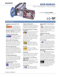 download free pdf for sony handycam dcr dvd301 camcorders manual