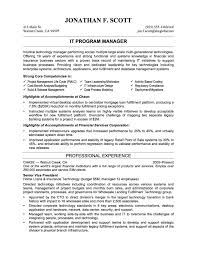 It Example Resume by Resume It Manager Sample Free Resume Example And Writing Download