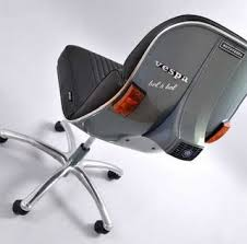 vespa parts upcycled into office chair