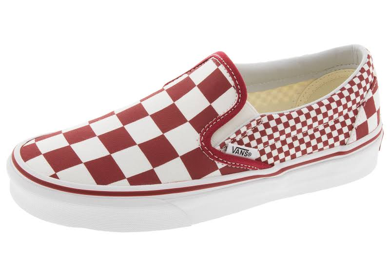 Vans Unisex Mix Checker Slip-On Fashion Sneakers (11.5 US Women / 10 US Men)
