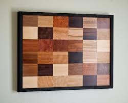 wall of wood wood veneer wall hanging art 220 00 via etsy