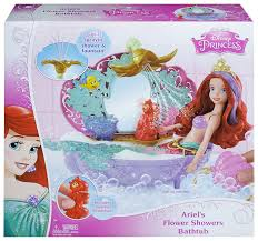 amazon com disney princess ariel s flower shower bathtub amazon com disney princess ariel s flower shower bathtub accessory toys games
