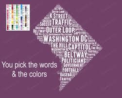 Washington Traffic Map by Word Art