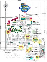 Chicago Parking Map by Detroit U0027s Thanksgiving Day Parade 2016 Route Parking And Street