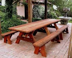Building Plans For Picnic Table Bench by 34 Best Picnic Tables Images On Pinterest Picnics Outdoor