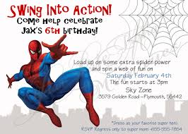 Birthday Invitation Cards For Kids 25 Spiderman Birthday Invitation Card Amazing Spiderman Birthday