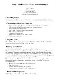 Good Resume Examples by Sample Entry Level Resume Resume For Your Job Application