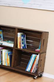 Wooden Crate Bookshelf Diy by Diy Wooden Crate Bookshelves Made With The New Unfinished Crates