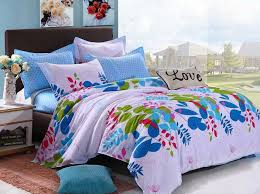 Girls Bedding Full by Various Colorful Beautiful Flowers Teen Girls Bedding Sets 4pcs