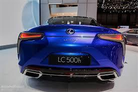 lexus lc convertible 2017 2016 lexus lc500h shows up in stunning blue exterior in geneva is
