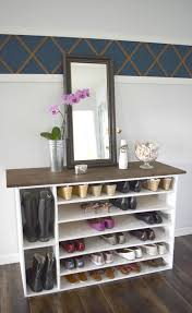 Shoe Storage Furniture by Stylish Diy Shoe Rack Perfect For Any Room