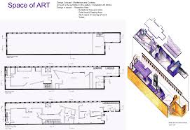 art gallery interior arch urban design