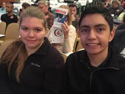 Megan Galeski  a freshman criminal justice major at Bob Jones University  and Hector Estrada  who is studying biblical counseling  attended a rally on the