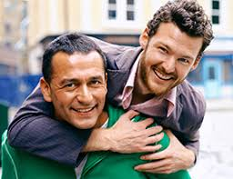 Gay dating  find lasting love   EliteSingles Happy gay couple