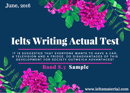 Recent IELTS Writing Actual Test in June and Band Sample