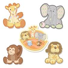 noah s ark baby shower theme bigdotofhappiness com noah s ark shaped baby shower paper cut outs 24 ct