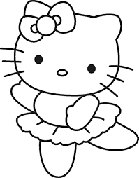 nice hello kitty ballerina coloring pages coloring pages