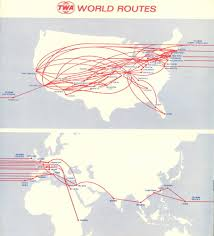 Carrier Route Maps by Twa 1972 Route Map Infographic Trans World Airlines All Things