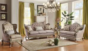 European Dining Room Furniture Homelegance Fiorella Sofa With Jewel Tufting Charleston