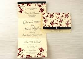 folded invitation the classic cream and burgandy folded wedding invitation be my guest
