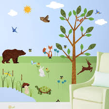wonderful walls forest peel and stick woodland wall decal wayfair forest peel and stick woodland wall decal