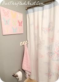 bathroom decor small little u0027s u0027s butterfly pink gray blue