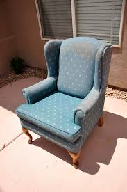 Wingback Rocking Chair Upholstering A Wing Back Chair Upholstery Tips All Things Thrifty