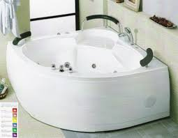 Jetted Tub Shower Combo High End Corner Jacuzzi Tub For Two With Shower Combo Design