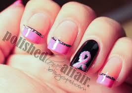 breast cancer awareness month nails pinterest coats nail