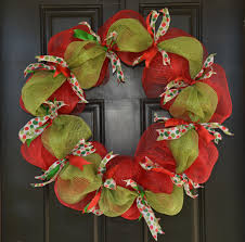 christmas door decorations with deco mesh holiday deco mesh