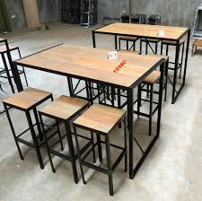 Kitchen Table Bar Style Table Bar Style Industriel En Métal Et Vieux Bois Recyclé Diy