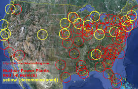 Big Map Of The United States by U S Nuclear Power Plants Safe Distance Modern Survival Blog
