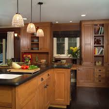 maple cabinets with oak floors kitchen contemporary with two tone