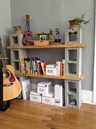 ideas building a custom cinder block shelves for diy shelves idea