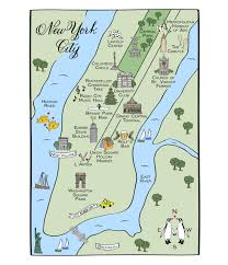 Central Park New York Map by Maps And Totes U2013 Laura Hooper Calligraphy